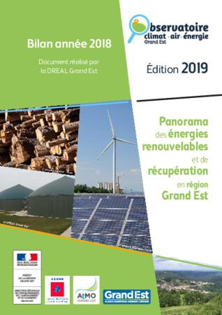 Panorama des énergies renouvelables et de récupération en région Grand Est - 2019