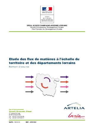 Lorraine : Analyse des flux matières - 2016