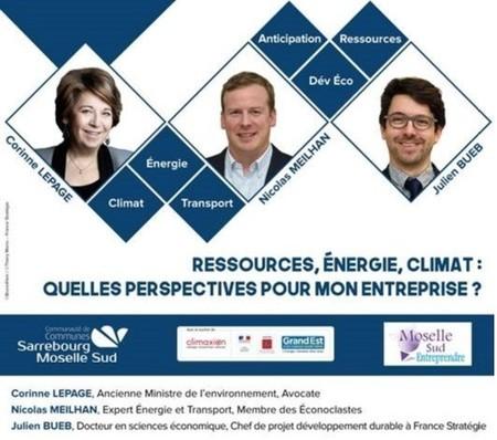 Retour en vidéo / Conférence du 31 janvier -  Ressources, Énergie, Climat : quelles perspectives pour mon entreprise ?