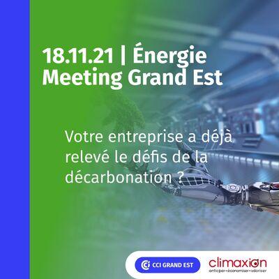 Energie Meeting Grand Est | Décarbonez vos énergies