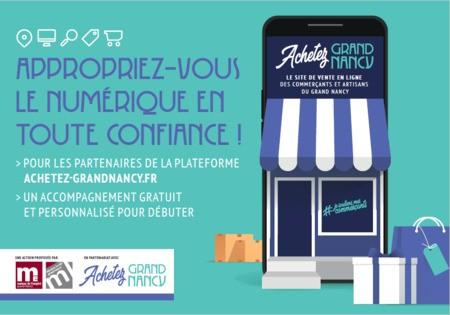 Mutualisation d'une plateforme d'e-commerce avec accompagnement des commerçants : Achetez-grandnancy.fr