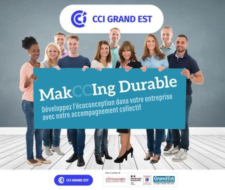 Candidatez à MakCCIng Durable accompagnement collectif à l'écoconception !