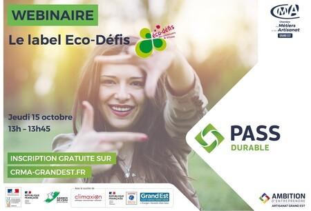 WEBINAIRE GRATUIT - Le label Éco-Défis