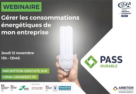 WEBINAIRE GRATUIT - Gérer les consommations énergétiques de mon entreprise