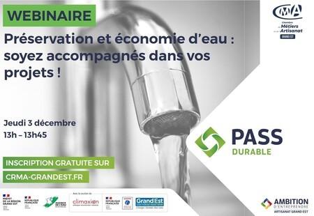 WEBINAIRE GRATUIT - Préservation et économie d'eau : soyez accompagnés dans vos projets !