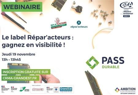 WEBINAIRE GRATUIT - Le label Répar'acteurs : gagnez en visibilité !