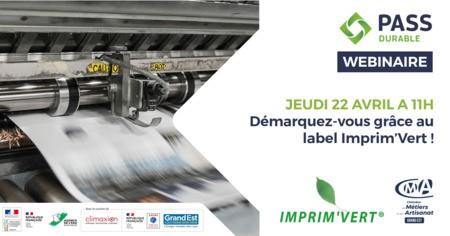 WEBINAIRE - Démarquez-vous grâce au label Imprim'Vert !