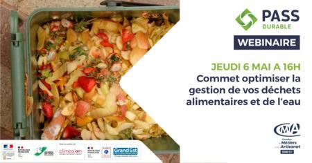 WEBINAIRE - Comment gérer la gestion de vos déchets alimentaires et de l'eau