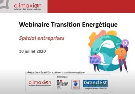 En vidéo : webinaire pour la transition énergétique des entreprises du Grand Est