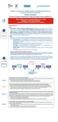 15 octobre : matinée sur les emplois et compétences de la Transition Energétique en Grand Est - formulaire d'inscription