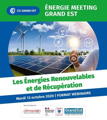 Webinaire gratuit sur les Energies renouvelable et de récupération 13 octobre 10h