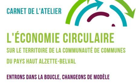 Carnet de l'économie circulaire et replay de l'atelier élus du 4 octobre