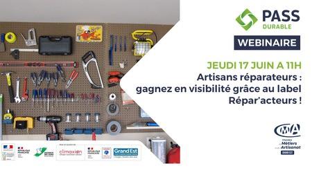 WEBINAIRE – Artisans réparateurs: vos métiers évoluent, gagnez en visibilité grâce au label Répar'acteurs!
