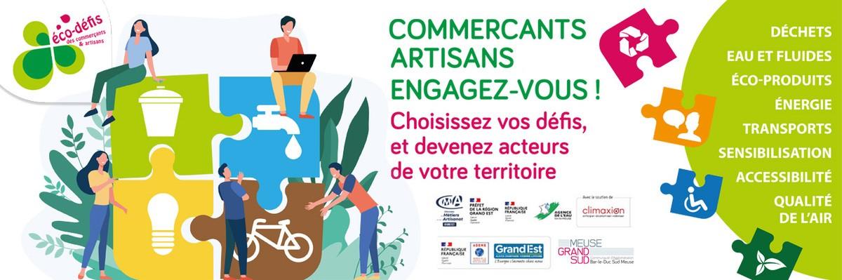 Comme Meuse Grand-Sud, relevez des défis écologiques avec vos artisans !