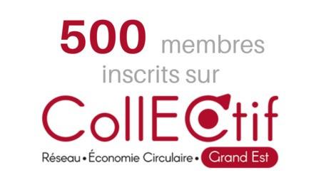 500 membres sur la plateforme collectif !