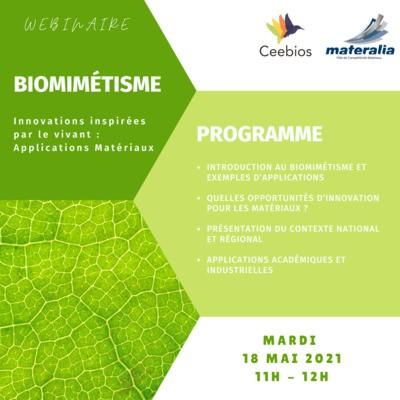 Webinaire Biomimétisme - Innovations inspirées par le vivant : Applications Matériaux
