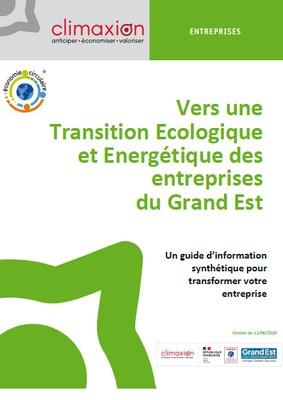 Vers une Transition Ecologique et Energétique des entreprises du Grand Est